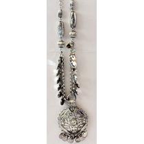 Collar Largo Tipo Hindu Con Medallon Y Varios Dibujos Aparte