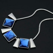 Collar C/elementos Cristal Swarovski Con Platino 18k.