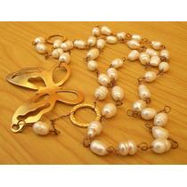 Collar Perlas Cultivadas Barrocas Genuinas Largo