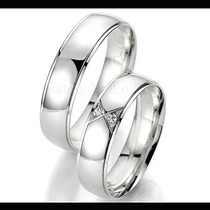 Argollas Matrimoniales Modelo Attraction De Plata Y Platino