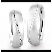 Argollas De Matrimonio Modelo Aimer En Plata Y Platino