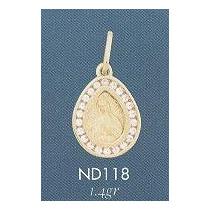 Medalla Virgen De Guadalupe Circonias Oro Solido Regalo