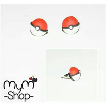 Aretes Pokemon Pokebola Geek Gamer Anime Kawaii Accesorios