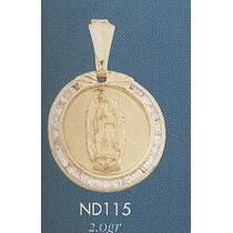Medalla Virgen De Guadalupe Oro Solido Gratis Cadena Y Envio