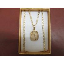 Medalla De Confirmación Con Cadena Cartier En Oro De 10k.