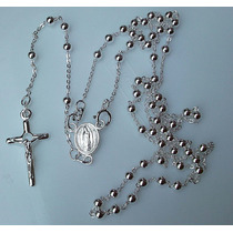 Rosario Cruz Cristo Crucifijo Virgen Guadalupe Plata Fina