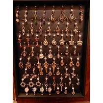 Exhibidor Con Lote De 180 Aretes Piercings Para Ombligo