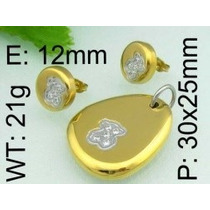 Regalo Set Touss Swarovski Element Acero Quirúgico Oferta!!