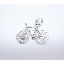 Dije Bicicleta Movible Hecho En Plata Ley.925 El Relicario