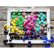 Asiamoda:coordinados Collar Y Aretes Burbuja Varios Colores