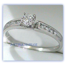 Anillos Comprmiso Diamante Natural .16ct Gh-vs