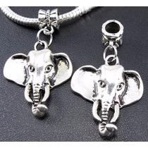 Elefante 1 Precioso Dije De Plata Tibetana 0236