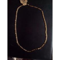 Cadena Unisex Diseño Cartier Acero Inoxidable Dorado 5mm