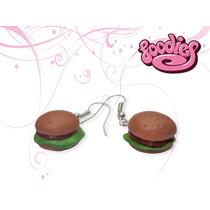 Aretes Diferentes Con Formas Divertidas (hamburguesitas)