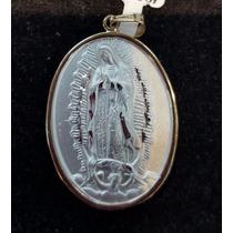Medalla Con Virgen De Gpe Y Juan Pablo Ii