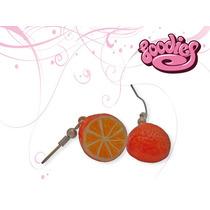 Aretes Kawaii Diferentes Con Formas Divertidas (naranjas)