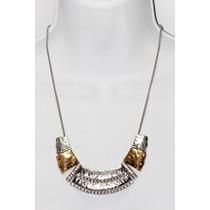 Collar Moda Color Plata Y Oro