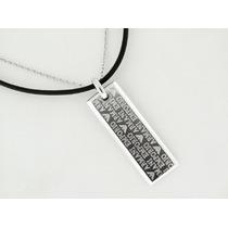 Cadena Collar Doble Emporio Armani De Cuero Y Plata