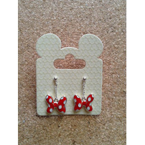 Disney 100% Original - Hermosos Aretes De Minnie Mouse