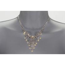 Conjunto Elegante, Collar, Aretes, Pulsera Y Anillo Ce130
