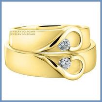 Argollas De Matrimonio Mod. Isabelle Oro Amarillo 14k Solido