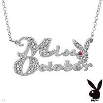 Collar * Playboy * Miss Octubre Multicristales , Original