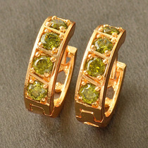 Aretes Oro Gold Filled 10k Con Peridots De 3mm 3.8 Gramos