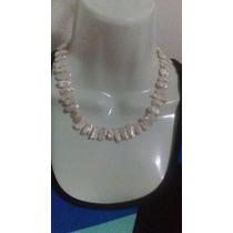 Collar De Perlas Cultivadas Con Alma De Hilo