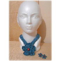 Collar Artesanal De Flores De Tela Daa