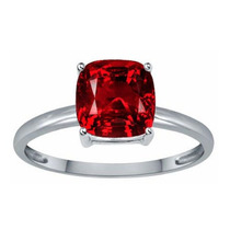 Anillo Con Rubi Corte Cushion De 4.85 Ct.