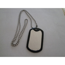 Collares Placa Acero Inoxidable Tipo Militar Tag Dog Grabar