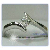 Anillos De Comprmiso 14kt Diamante Natural .10ct Gh-vs