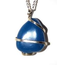 Joyeria Artesanal Hermoso Dije De Cuarzo Azul