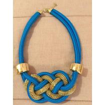 Collar De Nudo Azul