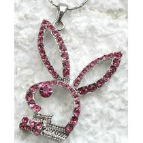 Collar * Logo Playboy * Bling Rosa