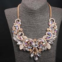 Maxi Collar.collar De Moda.collar De Cristales.mayoreo