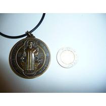 Moderno Dije Medalla Metalica De San Benito 4.6cm