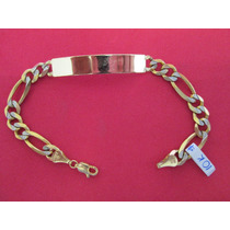 Esclava Cartier Para Caballero En Oro De 10 Kilates.
