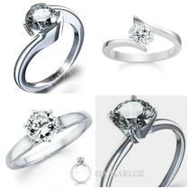 Anillo 10kt Macizo Con Diamante Ruso Envio Gratis