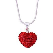 Buytra Collar Colgante Corazón Cristal Shambhala [oficina Pr