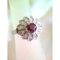 Anillo Vintage 12 Diamantes Blancos Limpios Rubie Central