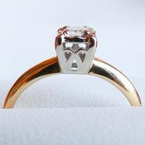 Anillo Solitario Oro 14k Y Diamante Natural 0.20 Cts Sz 6.5