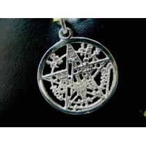 Dije Y Amuleto Pentagrama De Plata Pura Sterling Silver .925
