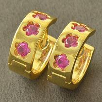 Aretes Oro Laminado 10k 14mm De Diámetro 5.0 Gramos