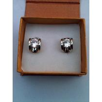 Aretes Chapados Con Plata Con Cristales