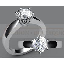 Anillo Compromiso Diamante Nat. .18ct (puntos) Oro14 Kt- Spo