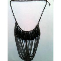 Collar De Base De Metal Con Cristales Para Dama