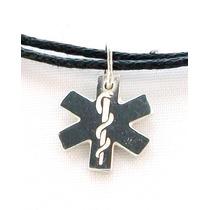 Dije Cruz Estrella De La Vida Ambulancia Medico Plata Maa