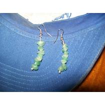 Gcg Aretes De Cuarzo Verde Jade Bfn