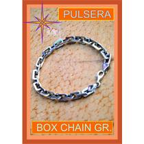 Pulsera De Plata Box Chain Grueza